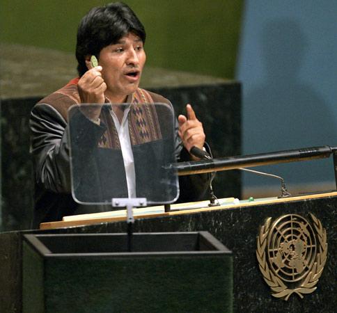 Bolivia encabeza la lista de países que exportan cocaína