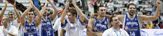 La selección griega saluda a sus seguidores