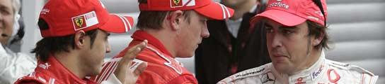 Massa, Raikkonen y Alonso
