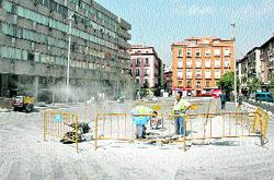 La plaza de la Luna, en obras