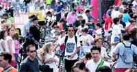El tiempo respeta el día de la bicicleta en Valencia