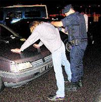 Redada policial en la frontera