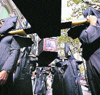 Cortejo fúnebre contra la muerte de 108 toros