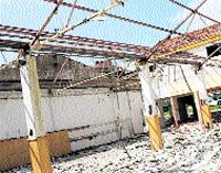 El Centro Reto, en ruinas