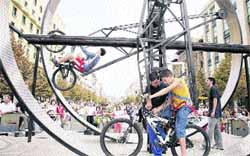 El deporte cerró ayer la Semana de la Movilidad
