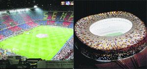 El Camp Nou abre sus puertas en su 50 aniversario