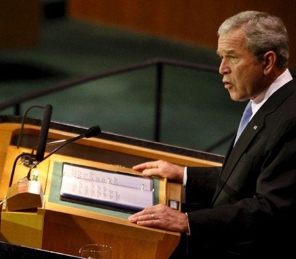 Bush, ante la asamblea de la ONU