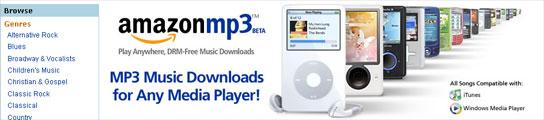 Amazon MP3, dos millones de canciones sin DRM