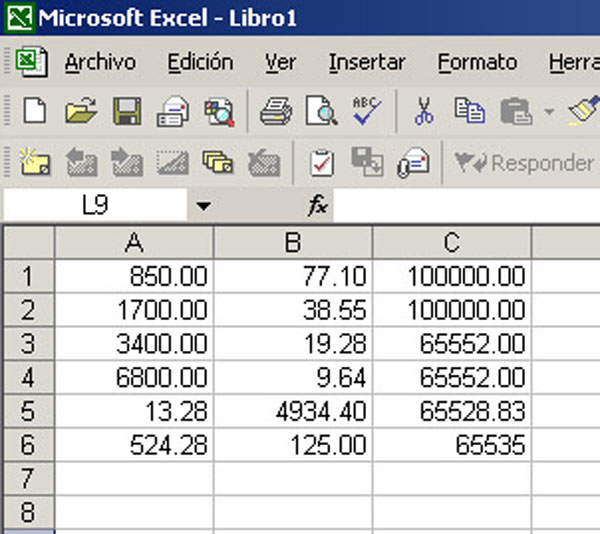 65.535, número maldito para Excel