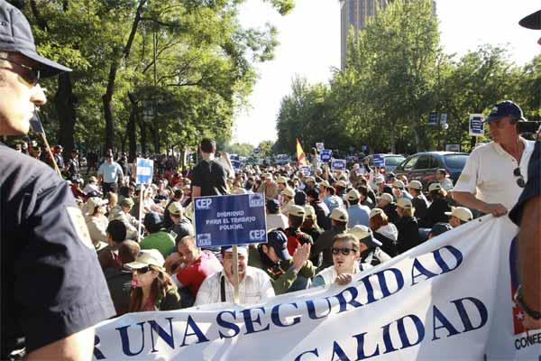 Manifestación de la Policía Nacional