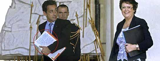La carta de amor a Sarkozy