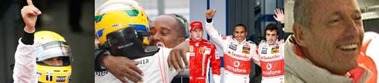 Hamilton, padre, pilotos y Dennis