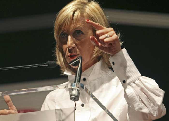 Rosa Díez durante la presentación de UPD