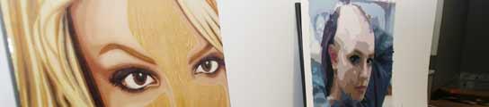 Cuadros inspirados en Britney Spears.