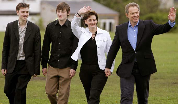 La familia de Tony Blair