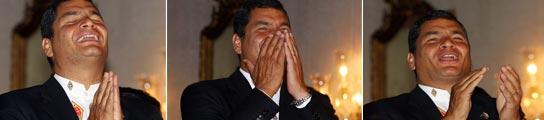Correa celebra su victoria