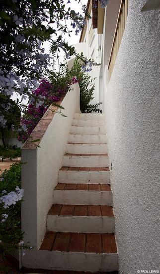 Las escaleras del apartamento