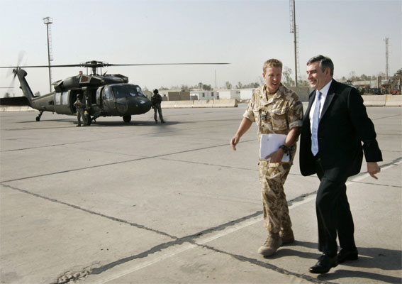 Gordon Brown en Irak