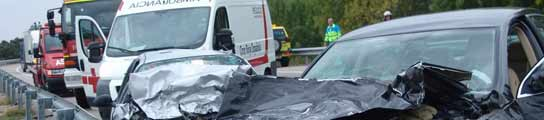 Accidente m�ltiple en Manzanares del Real