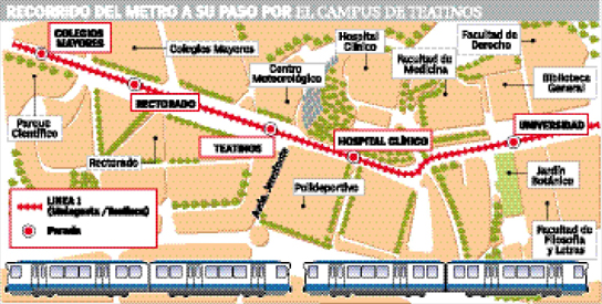 Metro en Teatinos.