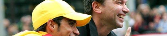 Contador y Bruyneel