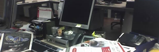 fotos, mesa, trabajo