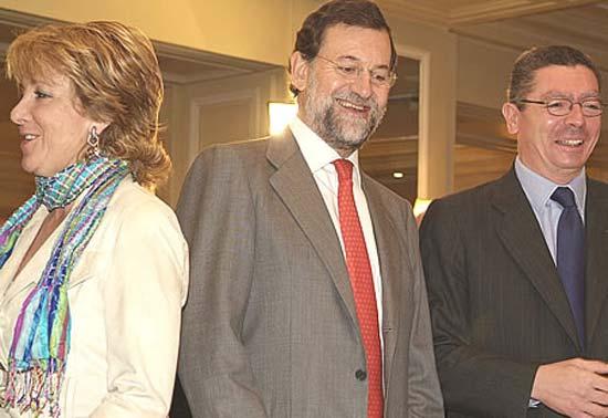 Aguirre, Rajoy y Gallardón