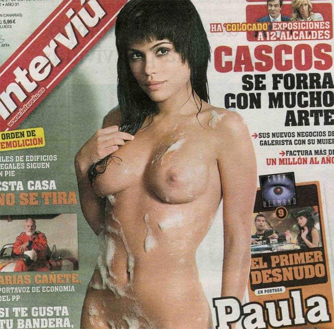 Paula, en la portada de este lunes de Interviú