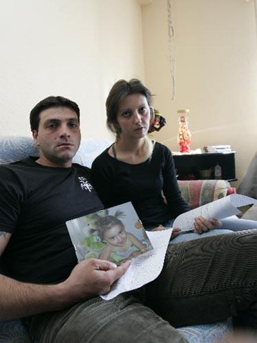 Krasimir y Zoya, los padres de la niña