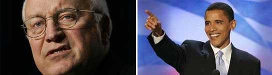 Cheney y Obama