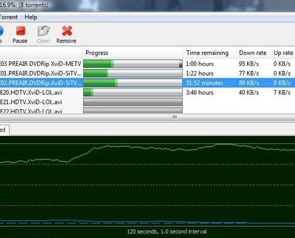 Captura de pantalla de un usuario descargando archivos.