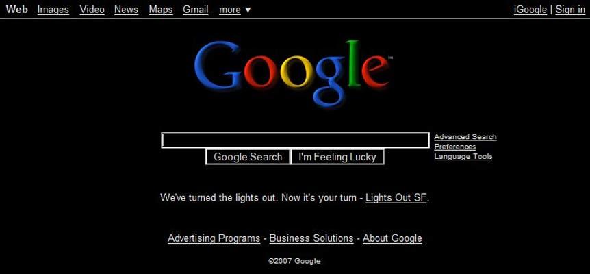 Google en negro