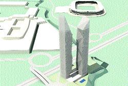 Harán dos torres de 30 plantas junto al estadio