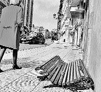Banco roto en Marquina