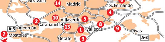 Mapa del chabolismo en Madrid