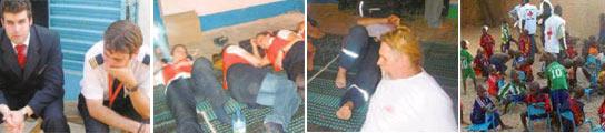 Imágenes de los detenidos, publicadas por Le Figaro