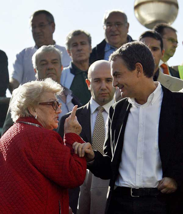 Zapatero visita las obras del AVE