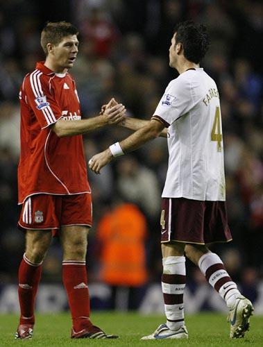 Gerrard y Cesc