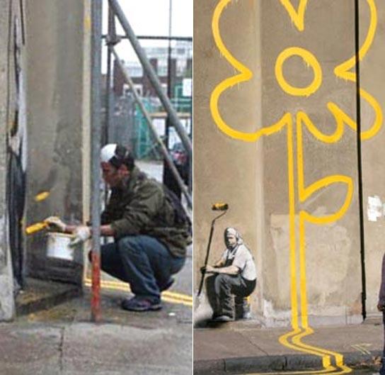El grafitero Banksy