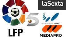 Iconos AVS, Mediapro, LFP y sexta y telecinco