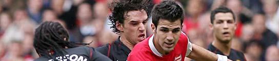 Cesc, del Arsenal, y Anderson, del Manchester.
