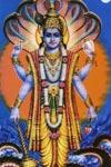 La divinidad india Vishnu