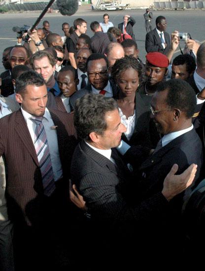 Nicolas Sarkozy y Idriss Deby