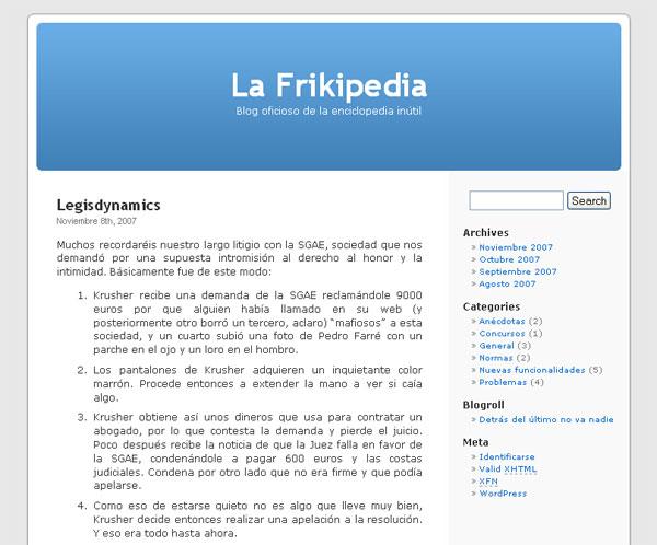 Condena a la Frikipedia