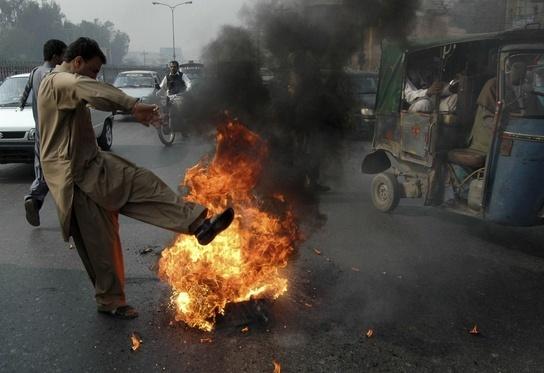 Protestas en Pakistán