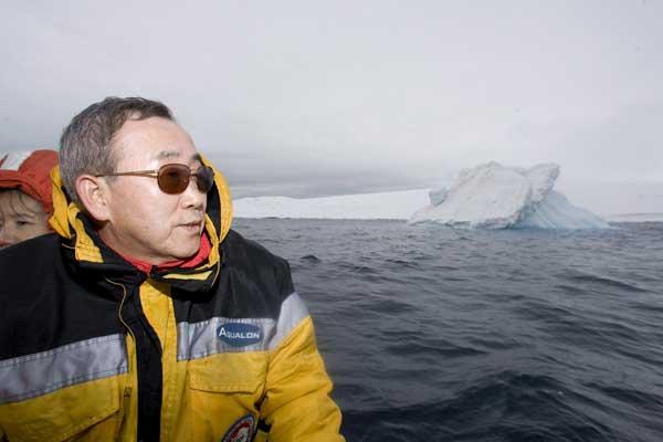 Ban ki-moon sobre hielo