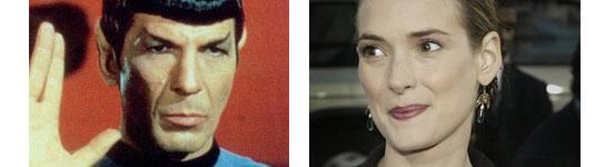 Winona Ryder  y el Sr. Spock