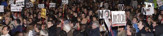 Protesta por la muerte de Carlos