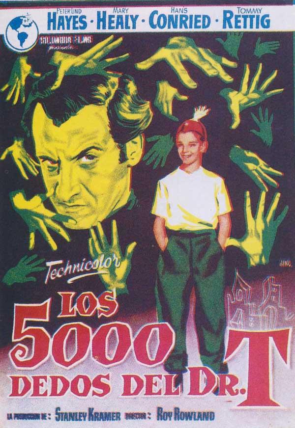 Cartel de 'Los 5.000 dedos del doctor T'