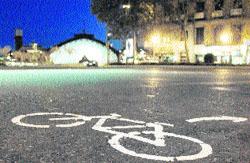De la noche a la mañana, bicis en el centro